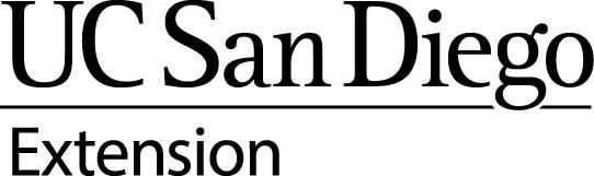 UCSanDiegoExt Logo Stacked Black
