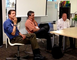 The presenters during the panel discussion. From Left: Scott Thacher, Scott Struthers, and Curt Becker.