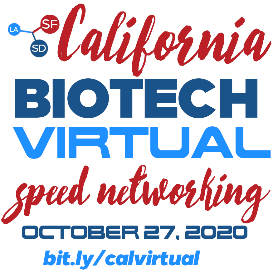 October 27th 2020 California Biotech Virtual Speed Networking Event